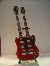 Miniature Guitar (24cm Tall) : LED ZEPPELIN GIBSON TWINNECK