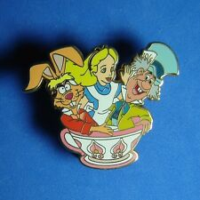Alice and Friends Mad Tea Party DLR Disney Pin Mad Hatter March Hare