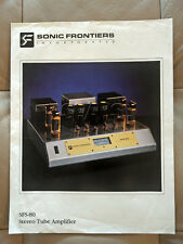 SONIC FRONTIERS OEM PRODUCT BROCHURE - SFS-80 STEREO VACUUM TUBE AMP - NICE!