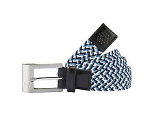 New 2016 Puma Golf Stretch Belt COLOR: Black / White / Blue Heaven SIZE:L/XL