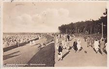 AK Ostseebad Brunshaupten. Strandpromenade, gelaufen 1933 nach Bremen.