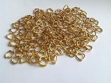 50 pcs 13.5mm golden tibetan style nickel & lead free heart bead frames findings