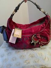 ORIGINAL JUICY COUTURE HANDBAG PINK VELVET