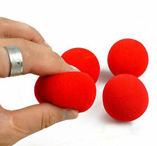 New 10PCS Close-Up Magic Street Classical Comedy Trick Soft Red Sponge Ball JE