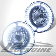 "7"" ROUND BLACK HOUSING DIAMOND CUT LED PROJECTOR HEADLIGHTS-SUZUKI SAMURAI 86-95"