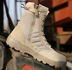 MAN MILITARY TACTICAL COMBAT DESERT BOOTS SIDE ZIP WORK ANKLE BOOTS HIKING BOOTS