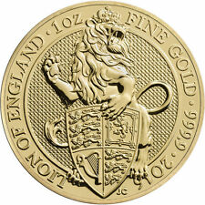 2016 1 oz British Gold Queen's Beast Coin (BU)