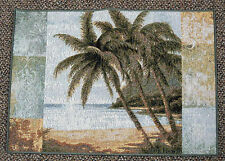 Philip Bai Island Tropical Palm Trees Tapestry Placemat