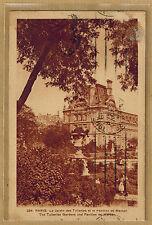 Cpa Paris - le jardin des Tuileries et le pavillon de Marsan LIP wn0996