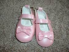 Absorba Baby Infant Girls Pink Crib Shoes Maryjane Bow Size 3 6-9 months NWT NEW