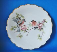 ROYAL WORCESTER  BIRDS OF DOROTHY DOUGHTY PLATE CHAFFINCHES ON MAY BLOSSOM