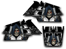YAMAHA BANSHEE GRAPHICS DECAL KIT GRIM REAPER REVENGE STICKER WRAP SHROUDS BLACK