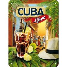 Cuba Libre Cocktail Rum Tiki Bar Pub Bevande Retro Piccolo 3D Metallo Goffrato