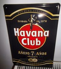 "HAVANA CLUB CUBAN RUM, EMBOSSED(3D)  VINTAGE-STYLE SIGN, 12""X 8"" 30X20cm, BLACK"