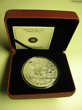 2014 Proof $50 5 oz .9999 silver Swimming Beaver Canada fifty dollars