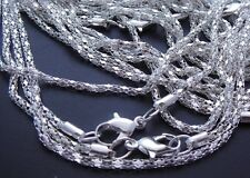 100pcs Silver plated snake chain Necklace With Clasp 23''# 100*L 4