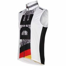 NWT K-Swiss Men's MS Windvest Germany 100567-893 Cycling Running Top White Vest