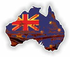 Australia Map Flag Sticker Old Look Retro Rusted Vintage for Gas Tank Guitar pc