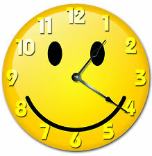 SMILEY FACE CLOCK Large 10.5 inch Round Wall Clock NOVELTY CLOCK 2018