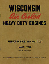 WISCONSIN  HD ENGINE VG4D ENGINES INSTRUCTION &  PARTS  MANUAL