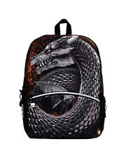 MOJO MOTHER OF DRAGONS MYTHICAL CREATURE FANTASY SILVER SCHOOL BOOK BAG BACKPACK