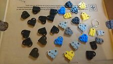 59 x 3176 Lego Coupling Bricks*Loveheart Keyring Wholesale*3 x 2 Hole Valentine