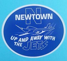 """THE JETS Vinyl Decal Sticker """"UP & AWAY WITH THE JETS"""" NEWTOWN RUGBY LEAGUE nrl"""