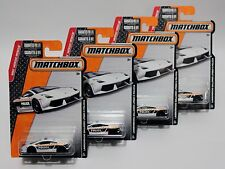 LAMBORGHINI GALLARDO LP560-4 POLIZIA * LOT OF 4 * 2015 MATCHBOX * POLICE CAR