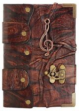 Solo Music Pendant Brown Handmade Leather Journal / Notebook / Sketchbooks Dairy