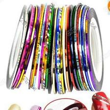 Beauty Rolls Stripe Decals Foil Tips Tape Line DIY Nail Art Tips Decor Stickers