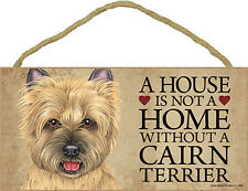 Cairn Terrier Wood Dog Sign Wall Plaque Photo Display 5 x 10 – House Is Not A.