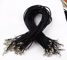 20PCS Beautiful black leather cord 3mmx18inch BA3961