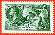 £1 Seahorse. SG.403. A super unmounted mint Royal Mail official reproduction.