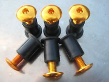 Screen Bolt Kit, gold anodised aluminium, 6 bolts, for Yamaha TDM 850