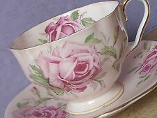 Antique Aynsley English Bone China Large Pink rose peach tea Cup teacup