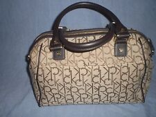 Calvin Klein Monogram Logo Satchel Barrel Shoulder Bag
