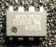 5x HCPL 2531 1 Mbps DUAL-channel Transistor output Optocoupler, Texas Instruments