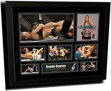 RONDA ROUSEY UFC SIGNED LIMITED EDITION FRAMED MEMORABILIA