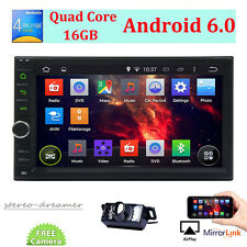 Car audio video radio player GPS Navigation System Android 6.0 Double 2 Din 7in.