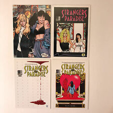 STRANGERS IN PARADISE 1996 Complete RARE 3-CARD SUBSET Terry Moore Art w/ PROMO