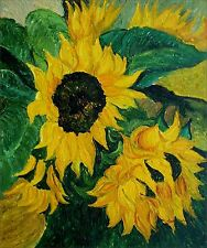 Sunflowers Heavy Impasto Technique Quality Hand Painted Oil Painting 20x24in
