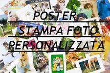 POSTER STAMPA PERSONALE FOTO PLASTIFICATO BIG 30X42 A3