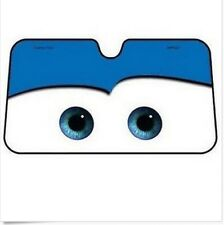 New Cartoon Car Windshield Sun Shade  Big Eyes Cars Lightning Front Blue