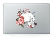 "Flowers Skull Laptop Apple Sticker Viny Decal Macbook Air/Pro/Retina 13""15"""