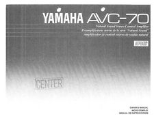 Yamaha AV-C70 Amplifier Owners Manual