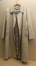 * Burberrys' Burberry * Vintage Men's Biege Cotton Trench Coat England!