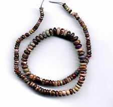 """SOUTH AFRICAN BUSTAMITE WITH SUGILITE RONDELLE BEADS - 939B - 17.5"""" Strand"""