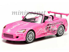 GREENLIGHT 86225 2 FAST AND 2 FURIOUS SUKI'S 2001 HONDA S2000 1/43 DIECAST PINK