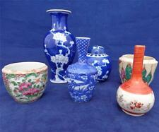 Job Lot of Six Vintage and Antique Chinese & Japanese Porcelain Vases and Jars