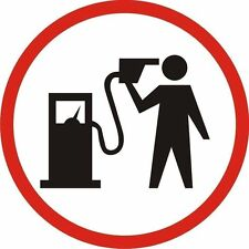 Petrol Head Logo Man with Petrol Pump to Head Sticker Decal Graphic Vinyl Label